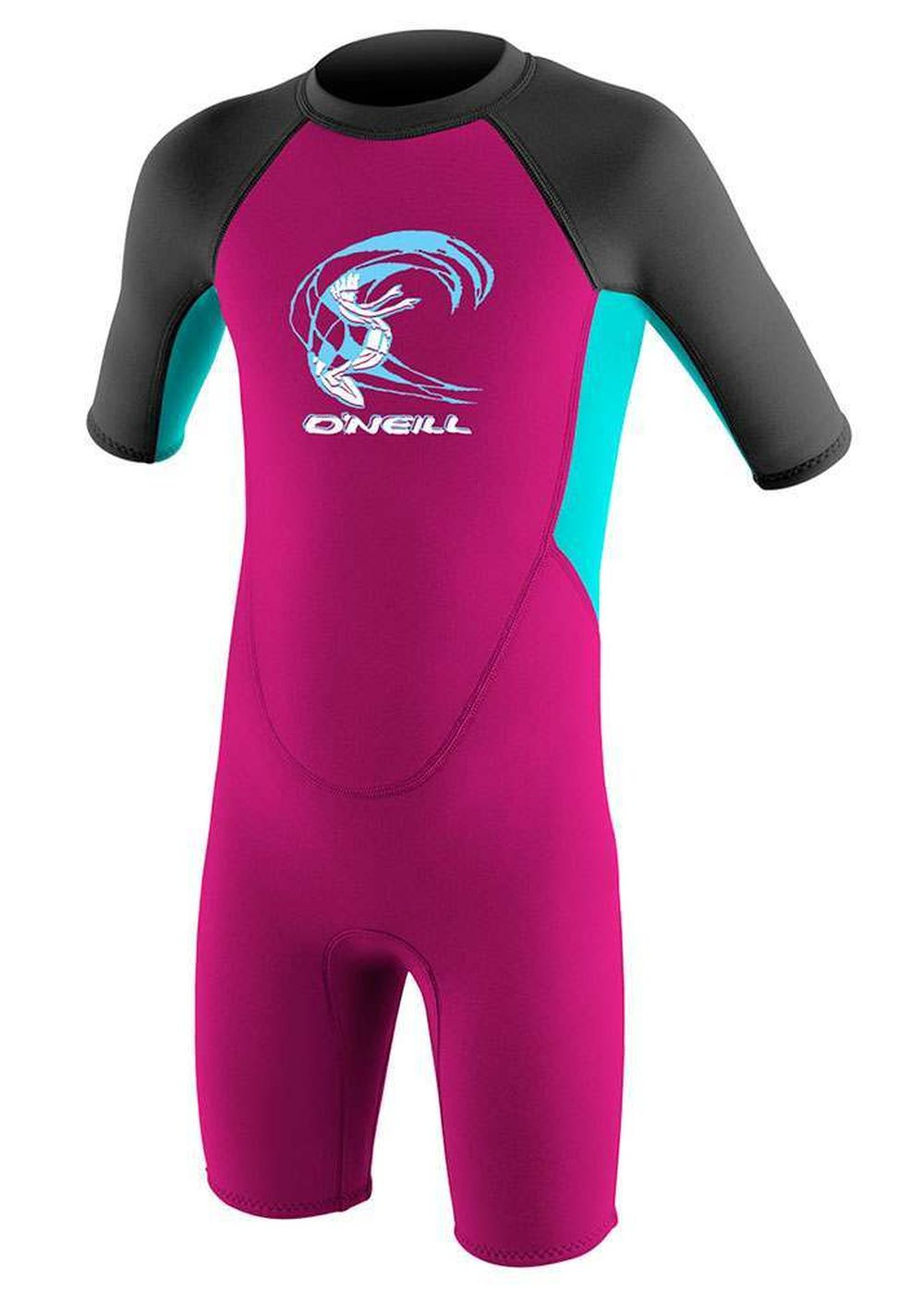 Oneill Toddler Reactor 3/2 Shorty Wetsuit Berry/aq Picture