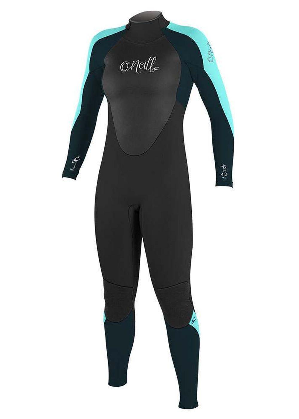 Oneill Womens Epic Bz 4/3 Wetsuit 2018 Blk/slt/sea Picture