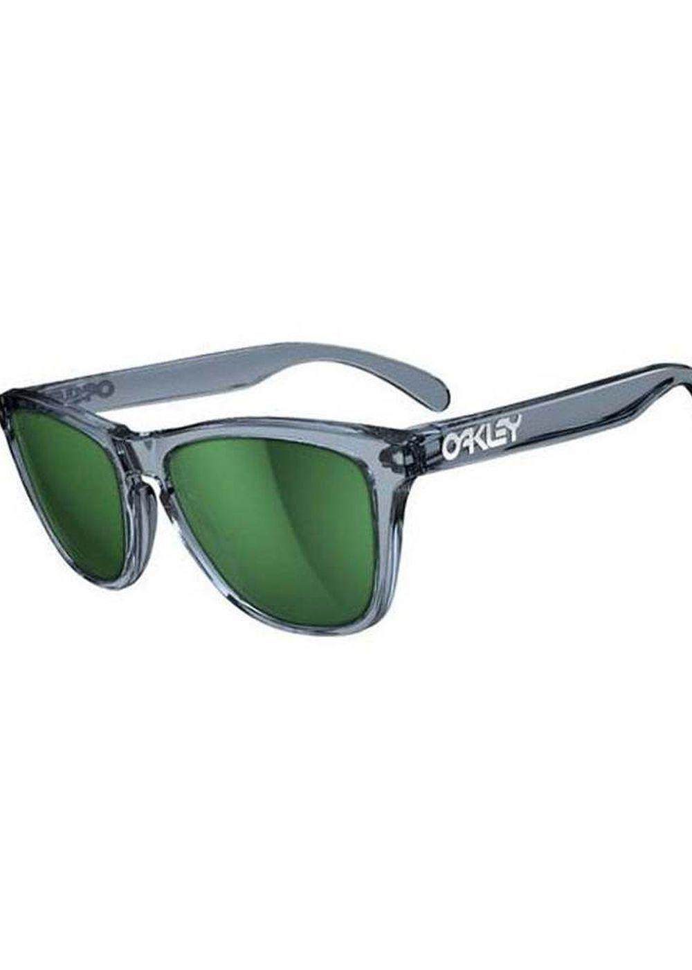 OAKLEY FROGSKIN SUNGLASSES Crystal Black/Emerald