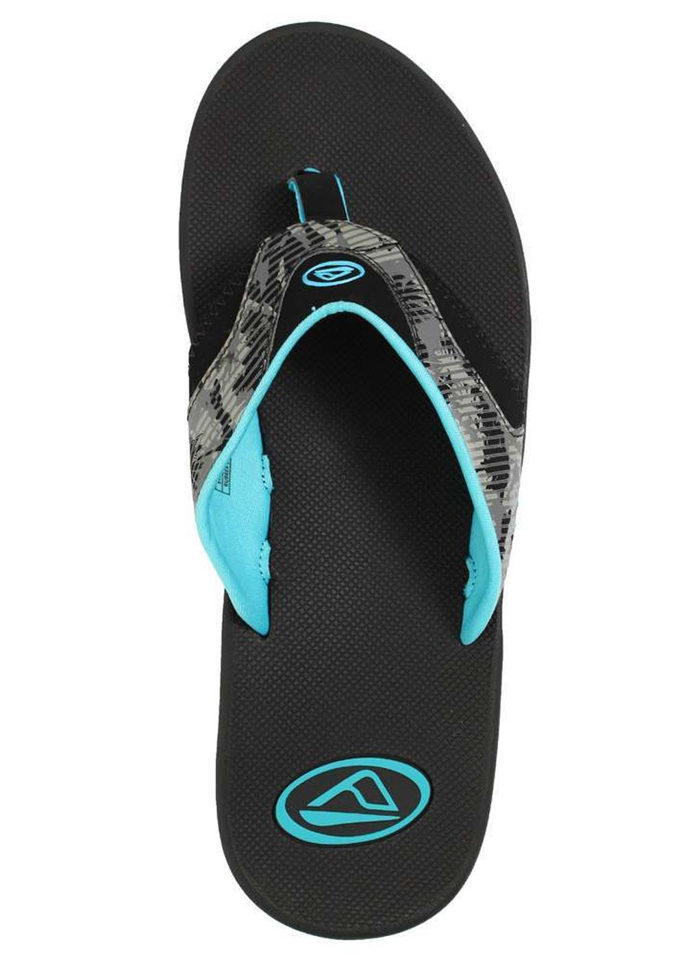 REEF FANNING PRINTS SANDALS Palm Camo Grey