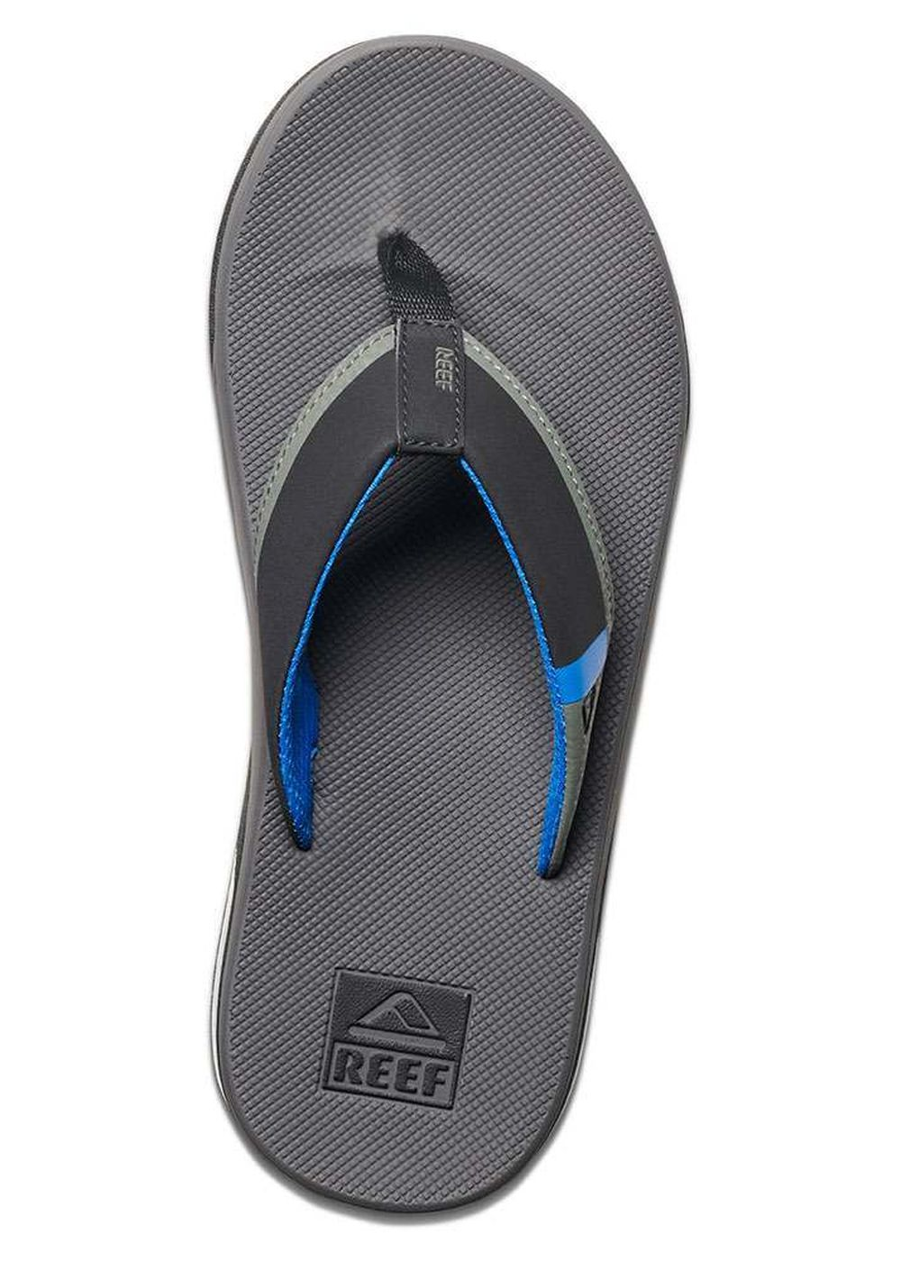 1e2e19b3fa6f Details about Reef Fanning Low Sandals Grey Blue Reef Clothes
