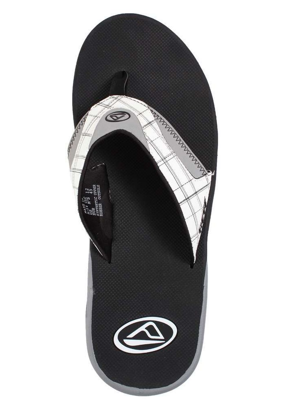 REEF FANNING PRINTS SANDALS White Plaid 2