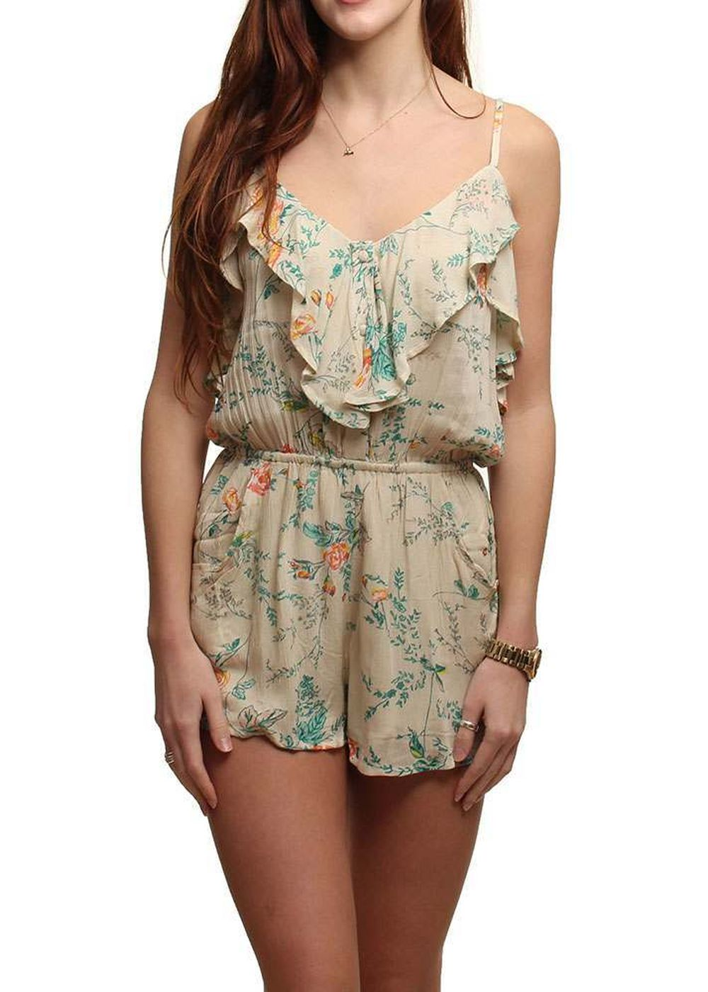 BILLABONG DREAM ESCAPE ROMPER White Cap