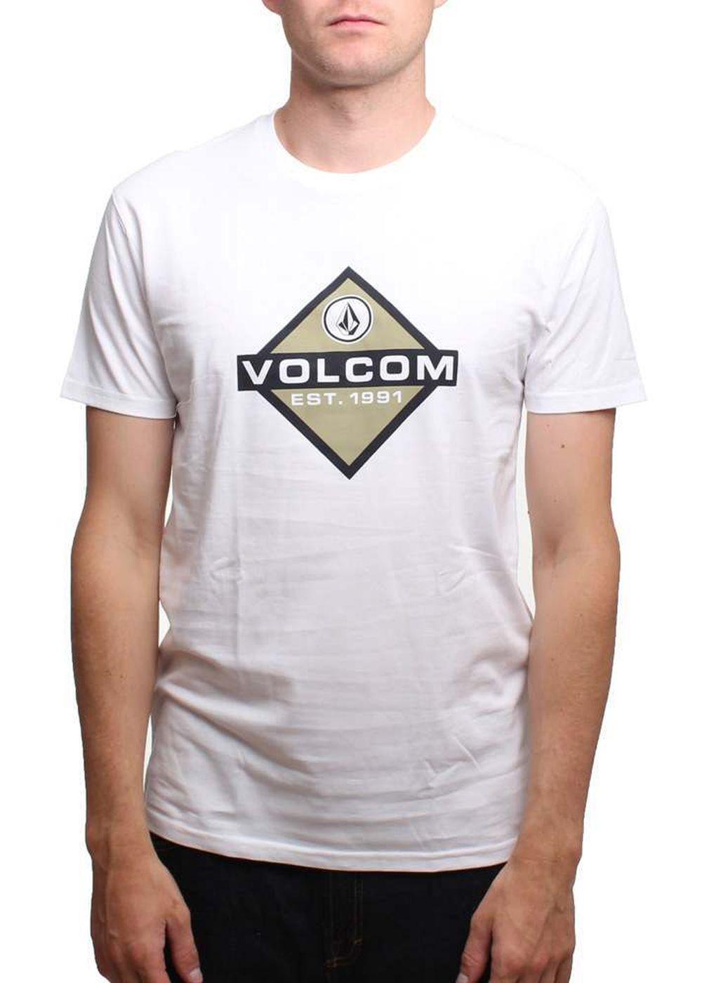VOLCOM HI FIVE 4 ALL TEE White