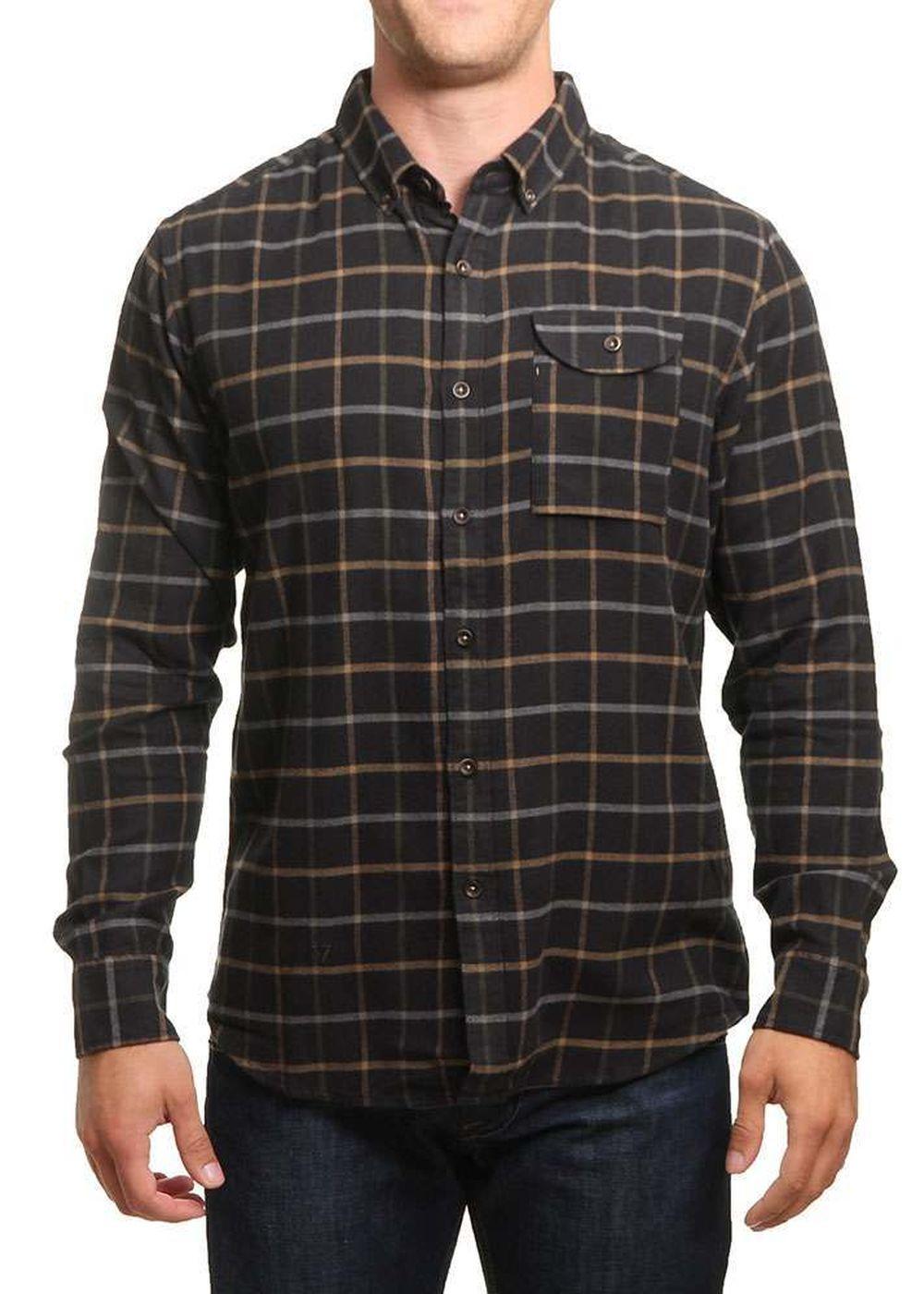 vissla-central-coast-flannel-shirt-black