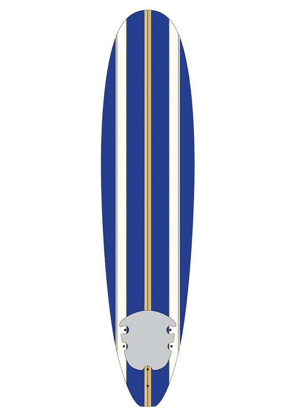 Surfing WAVE SLAVE SOFT SURFBOARD BLUE STRIPE 8ft 0