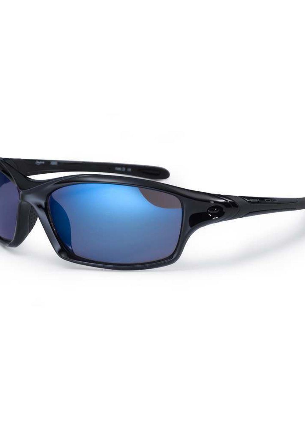 BLOC DAYTONA SUNGLASSES Shiny Black/Blue Mirror