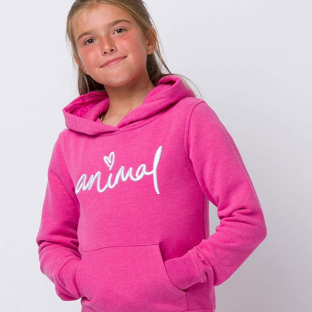 Animal Rachelle Pullover Hoody Age 3-4 Rosewood Pink Marl