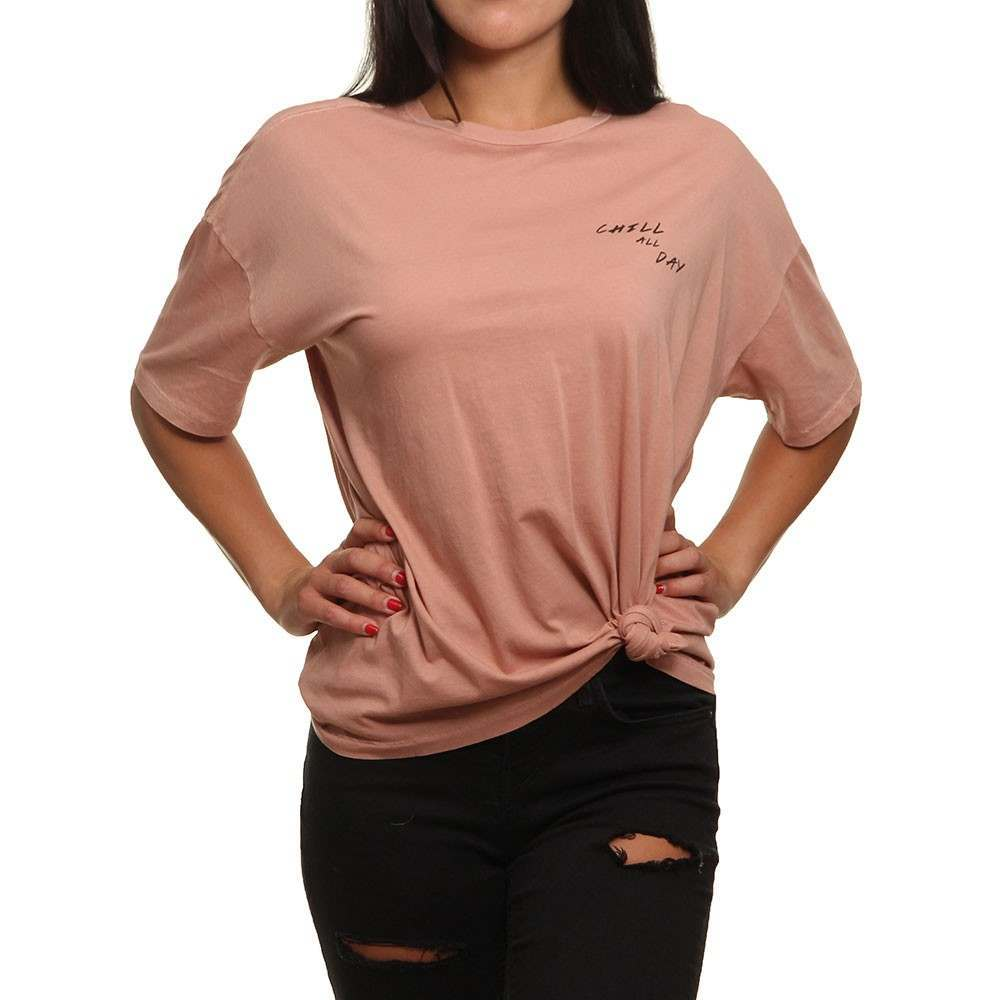 Roxy womens T-shirt w//graphic design Small plum