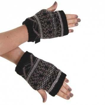 IGNITE FAIR ISLE GLOVES Black