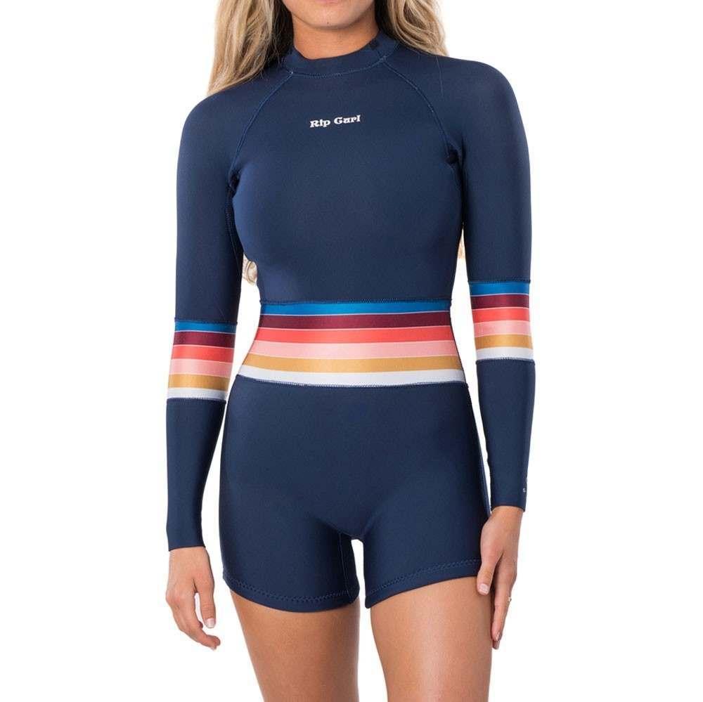 Ripcurl Surf Revival 2mm Long Sleeve Shorty Stripe