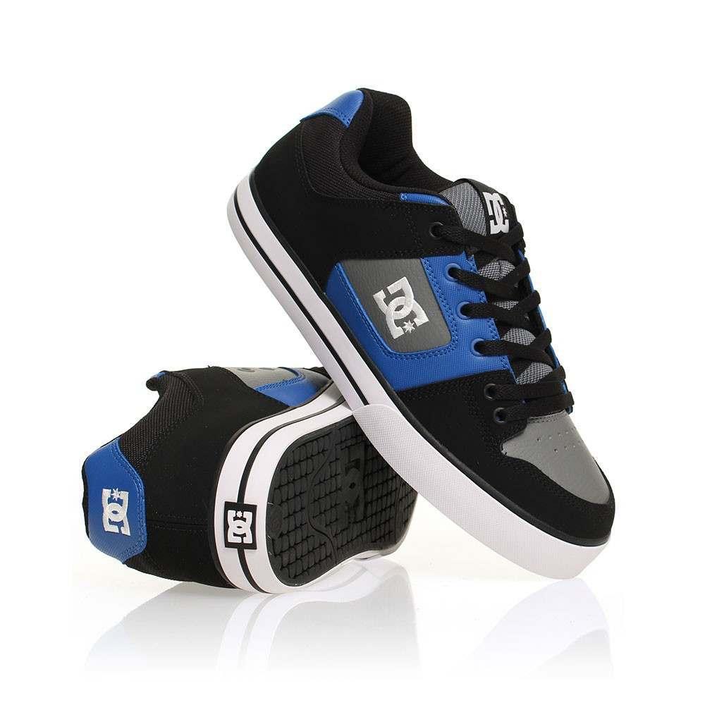 DC Pure Shoes Black/Blue/Grey