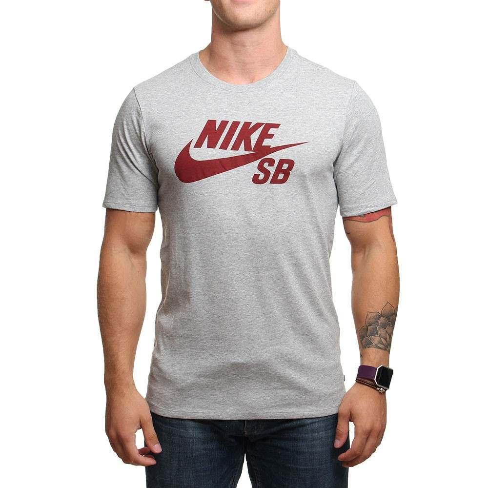 Nike SB Logo Tee Grey Heather
