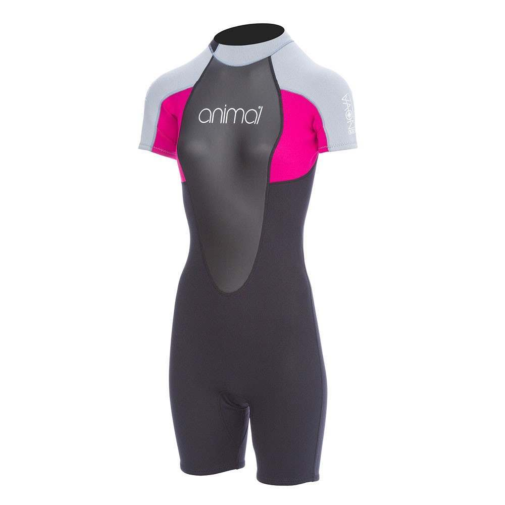 Animal Womens Nova 3/2 Shorty Wetsuit Berry Pink