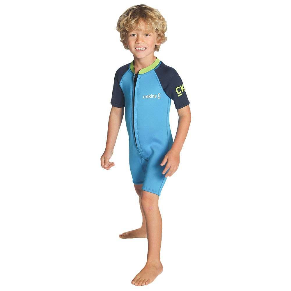 CSkins Baby Shorty Wetsuit Cyan/Navy