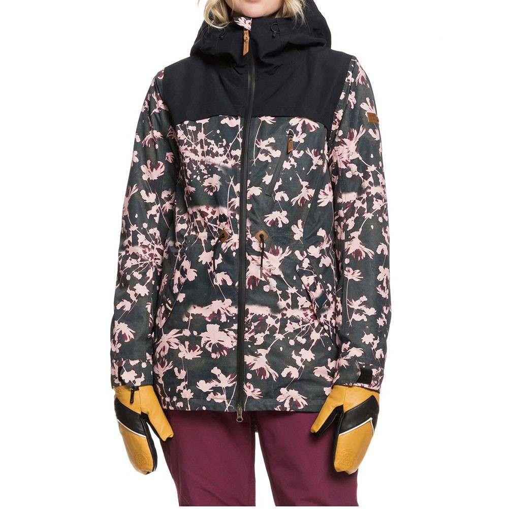 Roxy Stated Snow Jacket Black Poppy