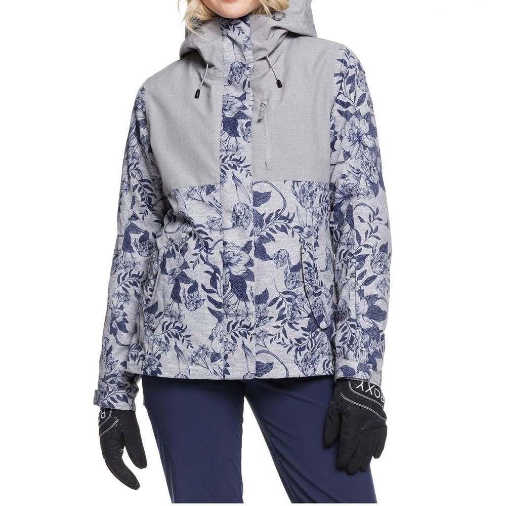 Roxy Jetty 3 in 1 Snow Jacket Grey Flowers