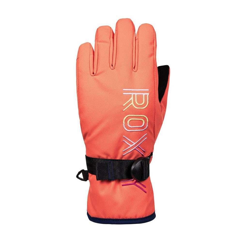 Roxy Girls Freshfield Snow Gloves Coral