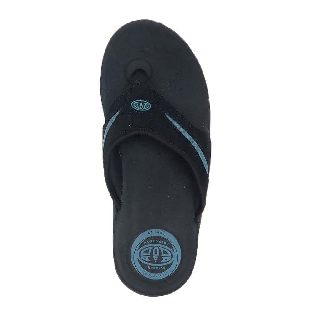 Animal Fader Sandals Black