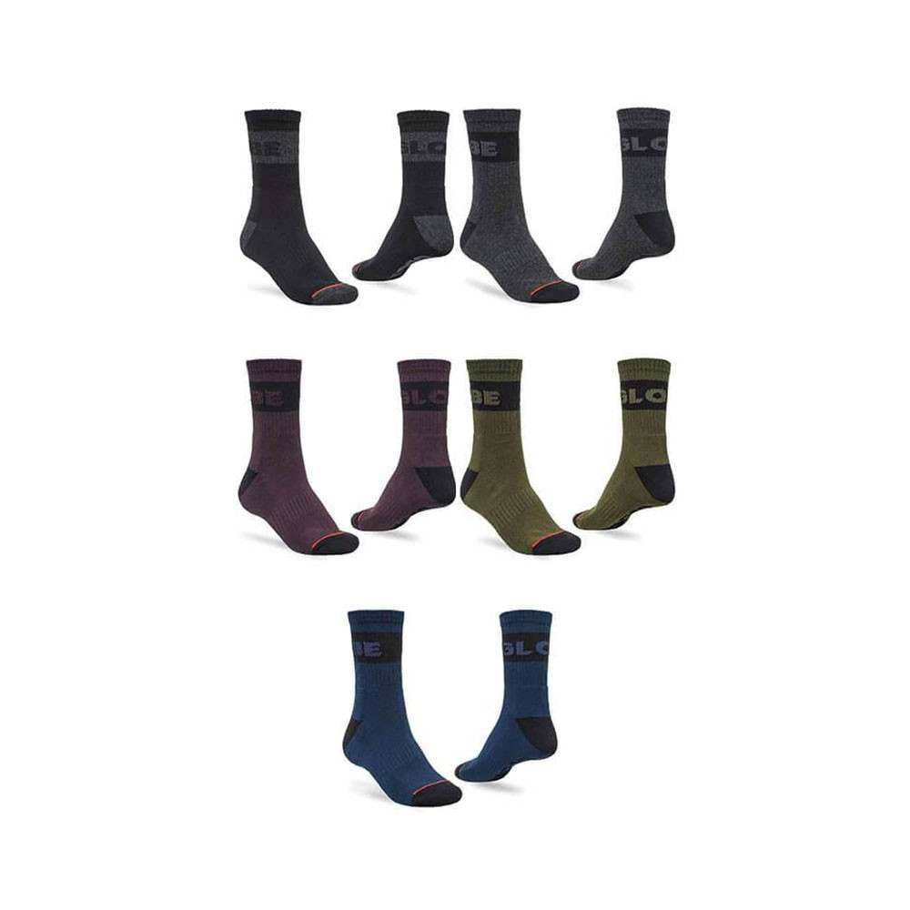 Globe Horizons Crew Sock 5 Pack Dark Assorted