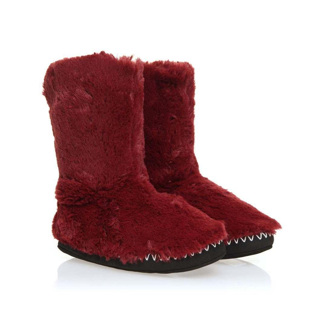 Animal Bollo Slipper Boots Bordeaux Red