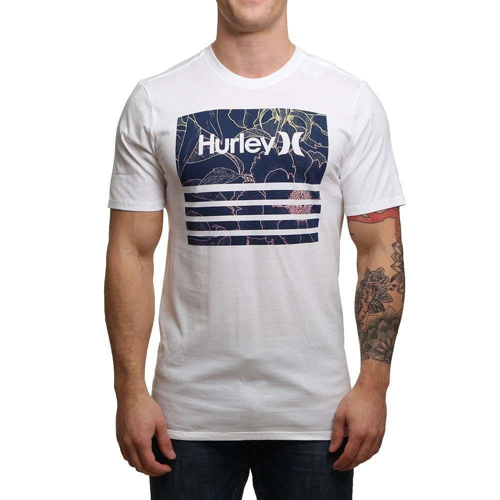 Black hurley t shirt - Hurley Borderline Fill Tee White