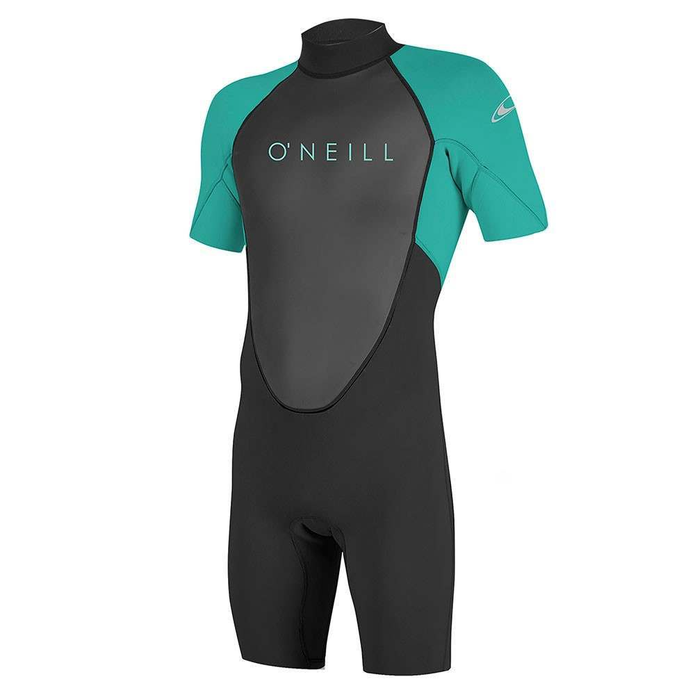 ONeill Youth Reactor 2 2MM Shorty Wetsuit Blk/Aqu