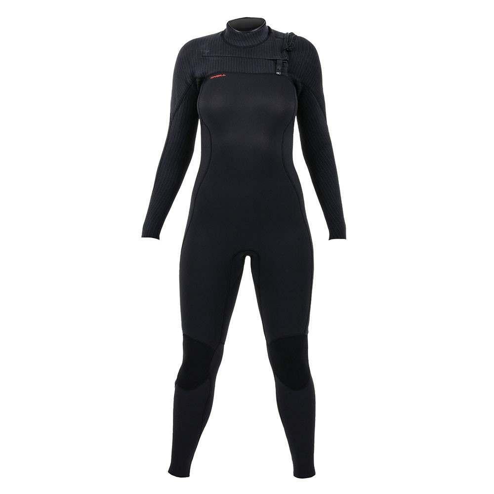 ONeill Womens Hyperfreak 5/4+ FZ Wetsuit Black