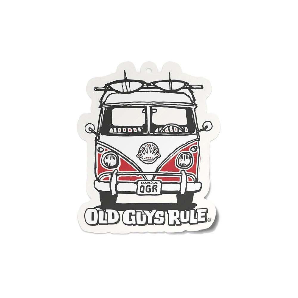 Old Guys Rule Good Vibes Air Freshner Red Van