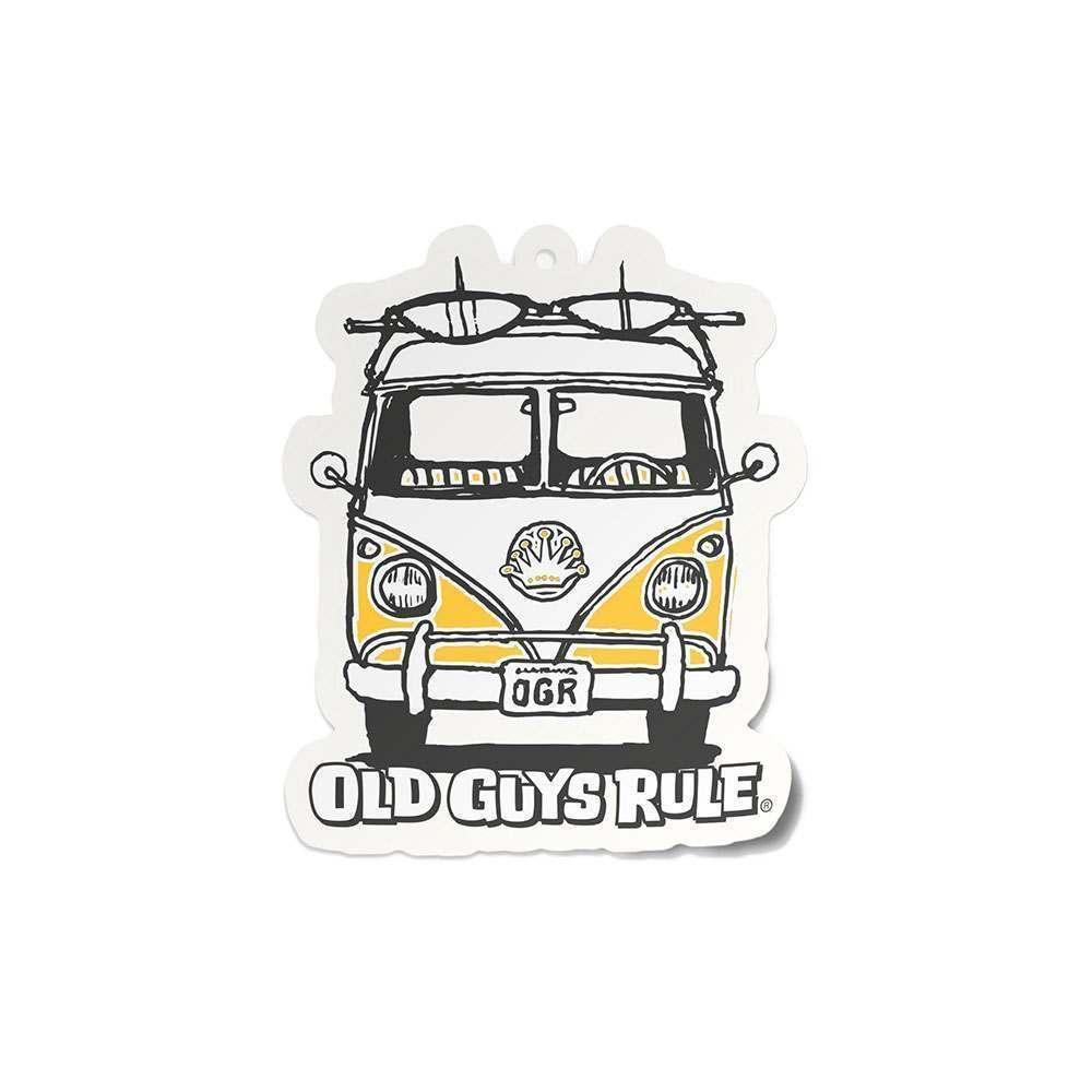 Old Guys Rule Good Vibes Air Freshner Yellow Van