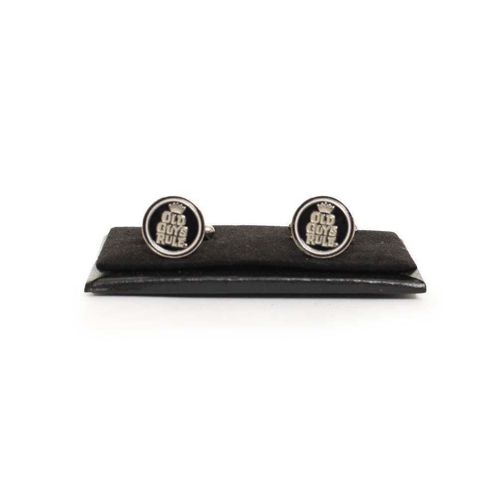 OLD GUYS RULE CUFFLINKS Black/Silver