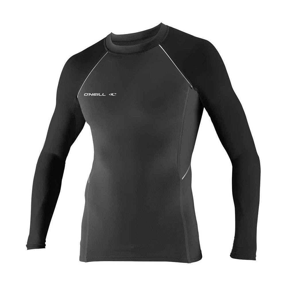 ONeill Skins Stitchless Long Sleeve Rash Vest Graphite