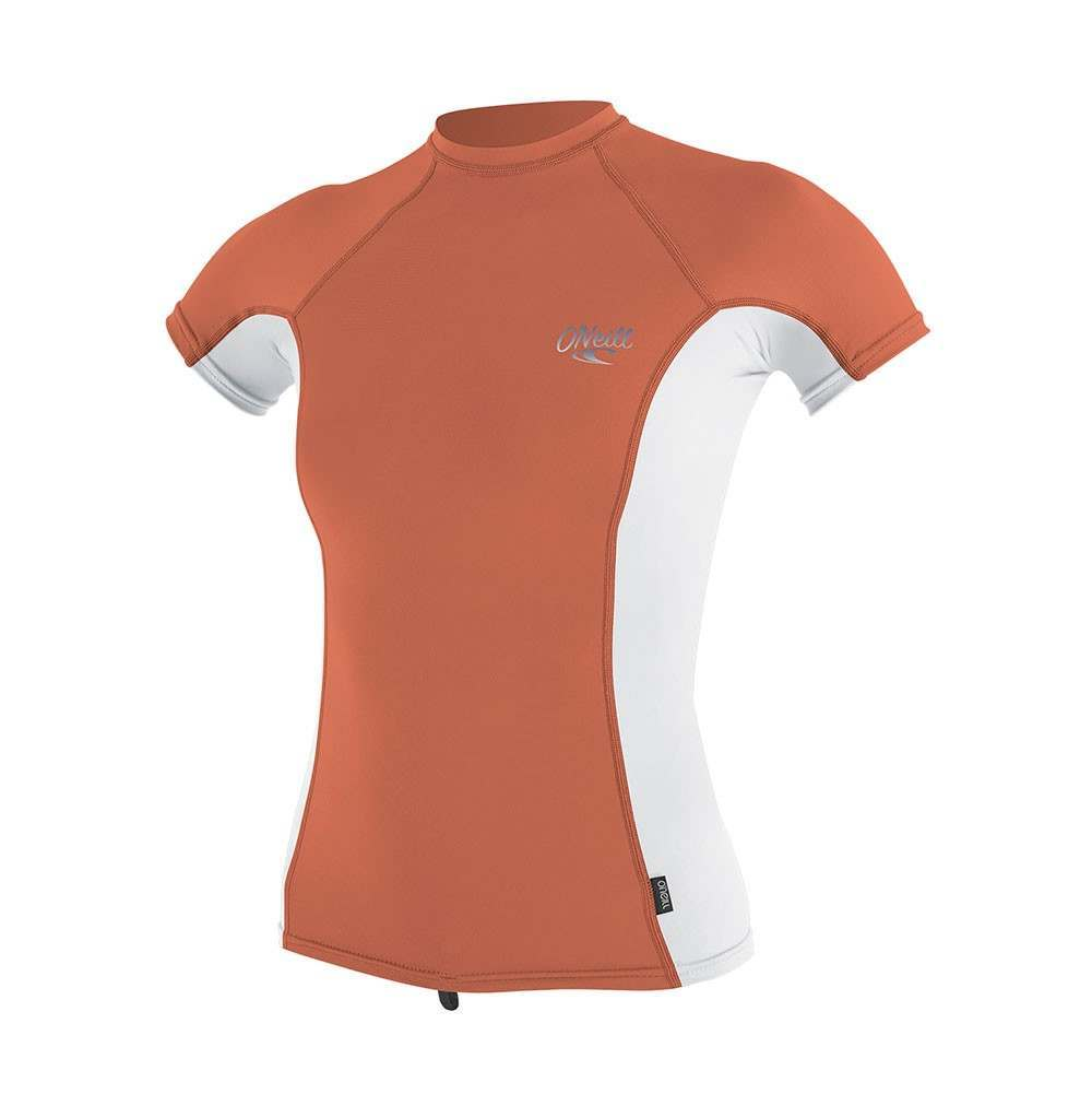 ONeill Womens Skins Short Sleeve Rash Vest Coral