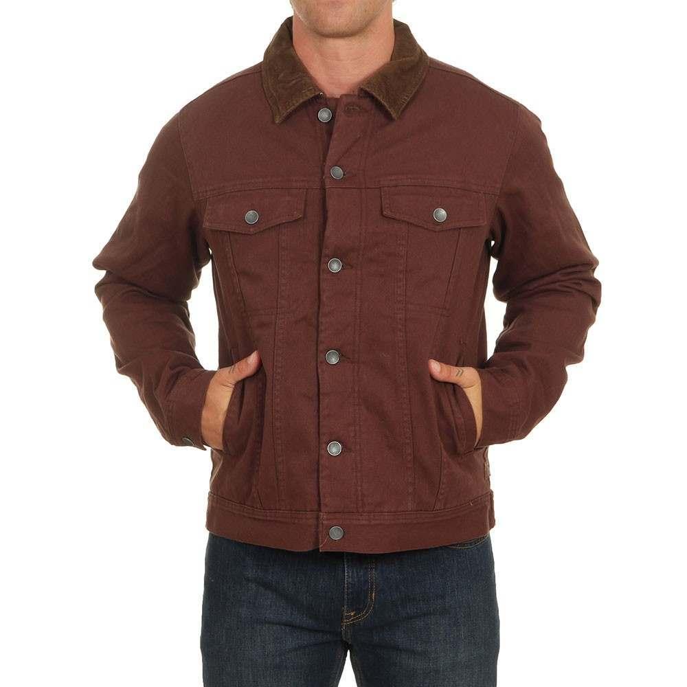 Billabong Barlow Trucker Jacket Rust Brown