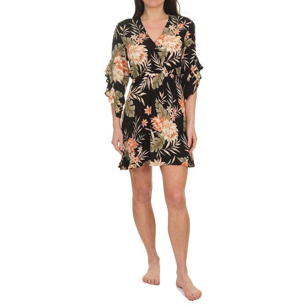 Billabong Love Light Dress Black Floral