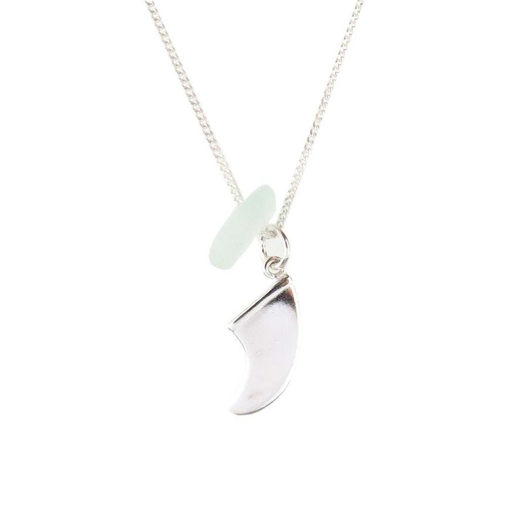 Spindrift Fin Necklace Aqua