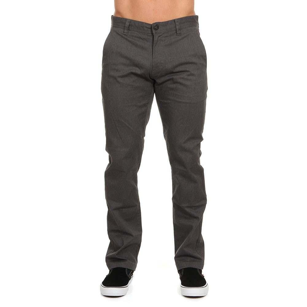 Volcom Frickin Modern Stretch Pants Charcoal Htr