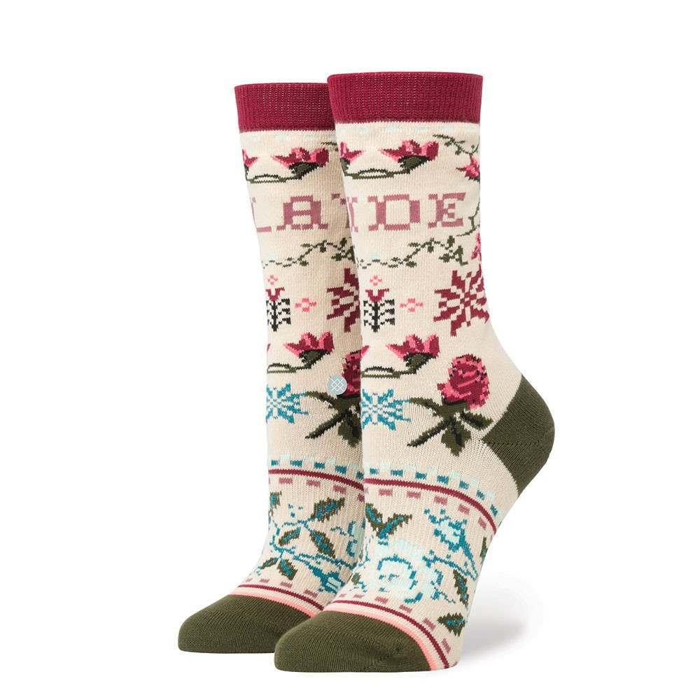 Stance Ladies Slay Ride Tomboy Socks Cream
