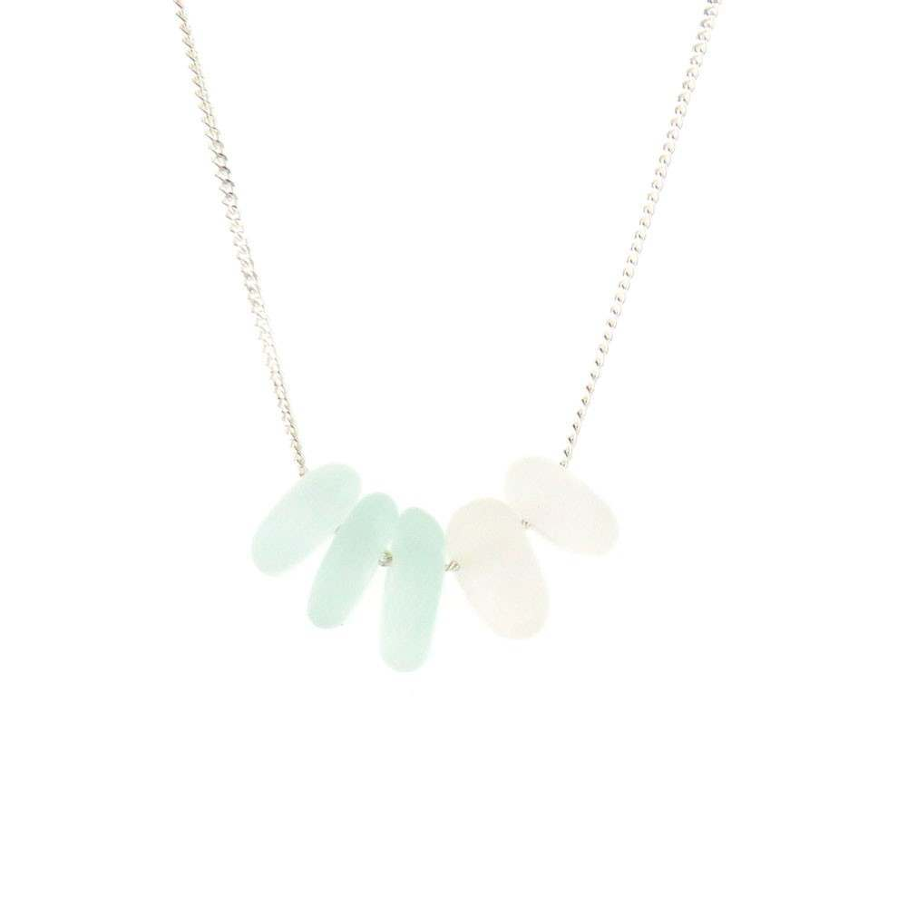 Spindrift Ocean Love Necklace Aqua
