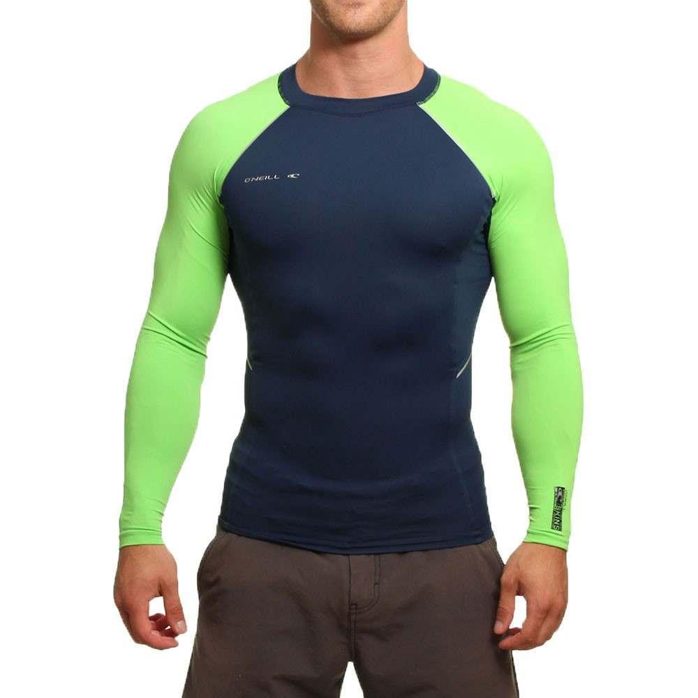 ONeill Skins Stitchless Long Sleeve Rash Vest Navy