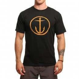 Captain Fin Original Anchor Tee Black/Gold