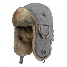 Barts Kamikaze Hat Grey Herringbone