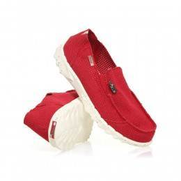 Hey Dude Farty Perforated Slip-Ons Red