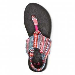 Sanuk Yoga Sling 2 Print Sandals Raspberry
