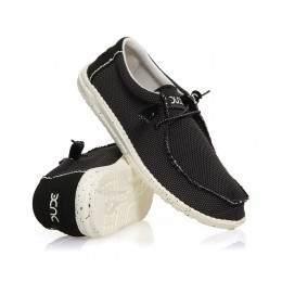 Hey Dude Wally Sox Shoes Mesh Onyx
