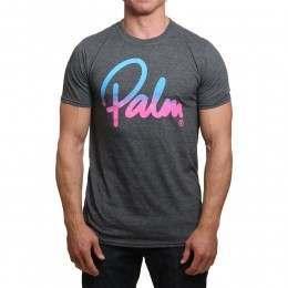 Palm Script Tee Grey