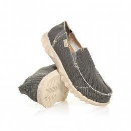 Hey Dude Farty Natural Slip-Ons Black