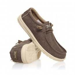 Hey Dude Wally Linen Shoes Chocolate