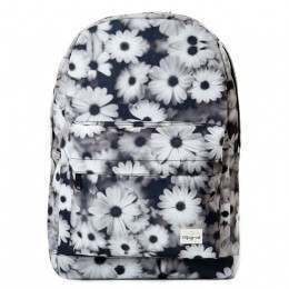 Spiral Daisy Backpack Black/White
