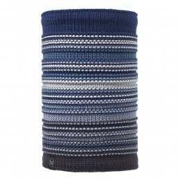 Buff Neper Knitted Neckwarmer Blue Ink